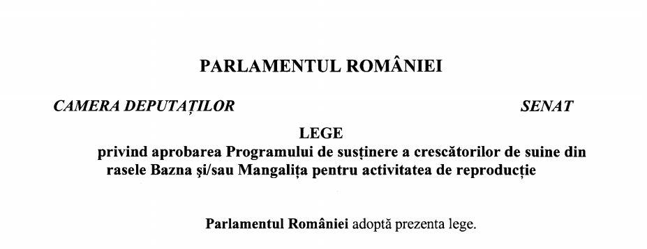 Program sustinere crescatori de suine Bazna si Mangalita