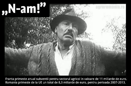 valoare subventii agricultura FRANTA si ROMANIA