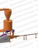 Linie brichetat brichete din biomasa 150-250 kg/ora