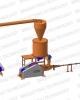 Linie brichetare brichete 300-400 kg/ora cu diametrul de 60-65mm din paie