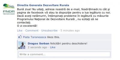 directia-generala-de-dezvoltare-rurala-din-cadrul-ministerului-agriculturii-are-cont-pe-facebook